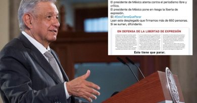 Divide opiniones desplegado de intelectuales en contra de AMLO por descalificar a la prensa