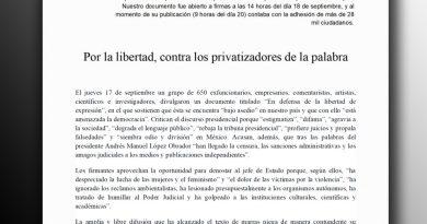 """Se polariza  duelo entre AMLO e intelectuales; """"El Fisgón"""" sale en su defensa con otro desplegado"""