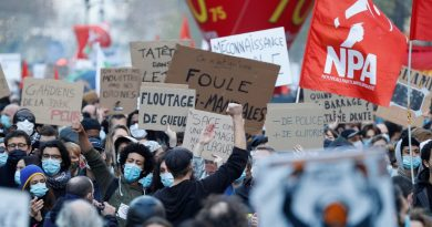 Periodista agredido en la protesta violenta por ley que prohíbe tomar fotos a policías en París