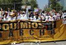 Marcha  nacional en la CdMx por desabasto de medicamentos contra el cáncer y la indolencia oficial