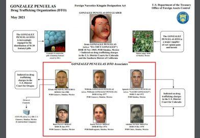 Sanciona Departamento del Tesoro de EU a sinaloenses vinculados con el narcotráfico